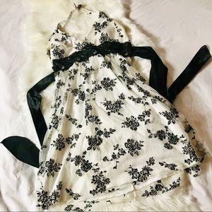 3/$25 Taboo black on white tulle halter dress, 1X